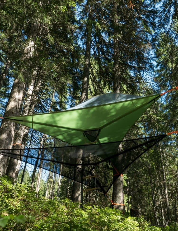 Sleep in tree tents in the WASTL outdoor camp, holiday camp in the Salzburg Sports World